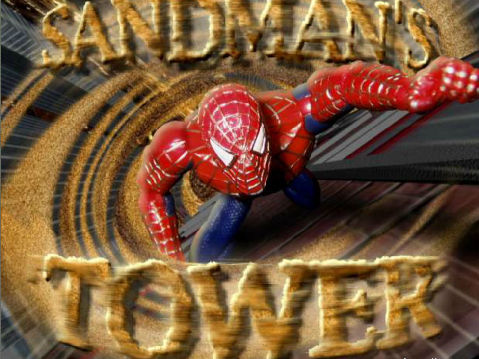 Spiderman Sandman's tower