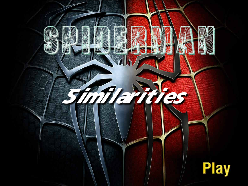 Spiderman similarties