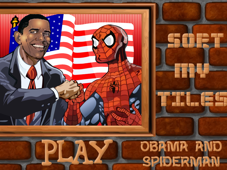 Sort my tiles Obama & Spiderman